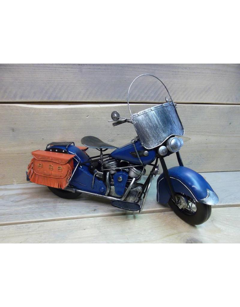 W.F. Peters Motor blauw 40x16x24 cm