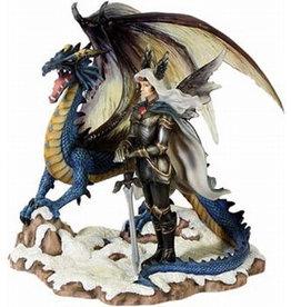 """W.F. Peters Dragonsite Elfje met draak """"Sapphire""""hg 16 cm by Nene Thomas lim.Edit.4800 st."""