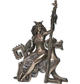 W.F. Peters Frigg (Vrouw van Odin) by Derek W.Frost bronskl.hg 27 cm