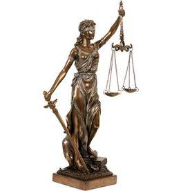 W.F. Peters Vrouwe Justitia bronskl.hg 35 cm