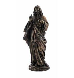 W.F. Peters Jezus staand (brons kl) 11x8,5x26,5 cm