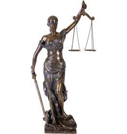 W.F. Peters Justitia staand hg 45 cm bronskl.