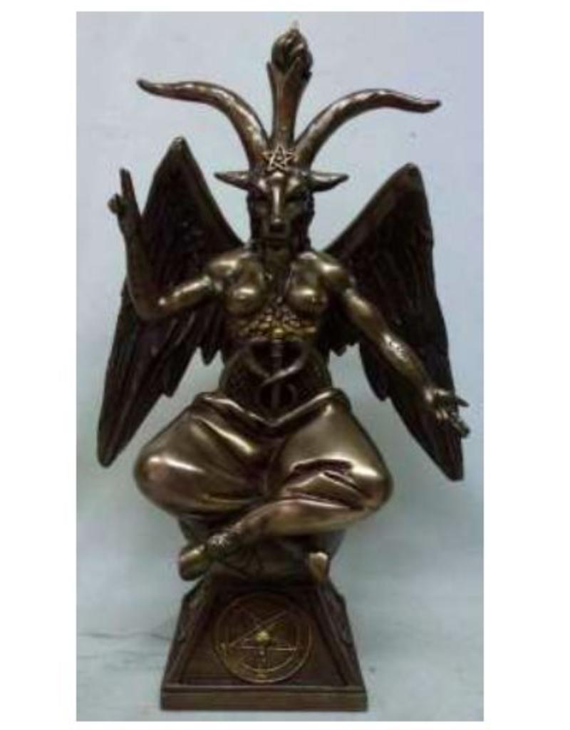 W.F. Peters Baphomet bronskl. God door Tempeliers aanbeden hg 24 cm