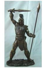 W.F. Peters Achilles (Griekse krijger) bronskl. hg 29 cm