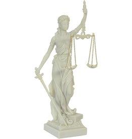 W.F. Peters Vrouwe Justitia wit hg 35 cm