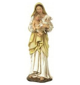 W.F. Peters Madonna met Kind en Lam hg 15 cm