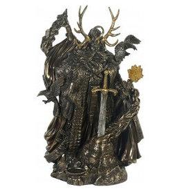 W.F. Peters Merlijn Mytische Tovenaar bronskl. hg 27 cm