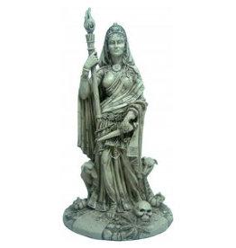 W.F. Peters Hecate met staf en dolk Godin uit de griekse en Romeinse mythologie antiek wit hg ca 28 cm