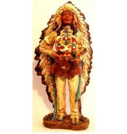 W.F. Peters Indianen opperhoofd hg ca 31 cm