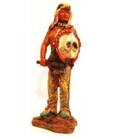 W.F. Peters Indiaan met adelaarskop hg ca 22 cm