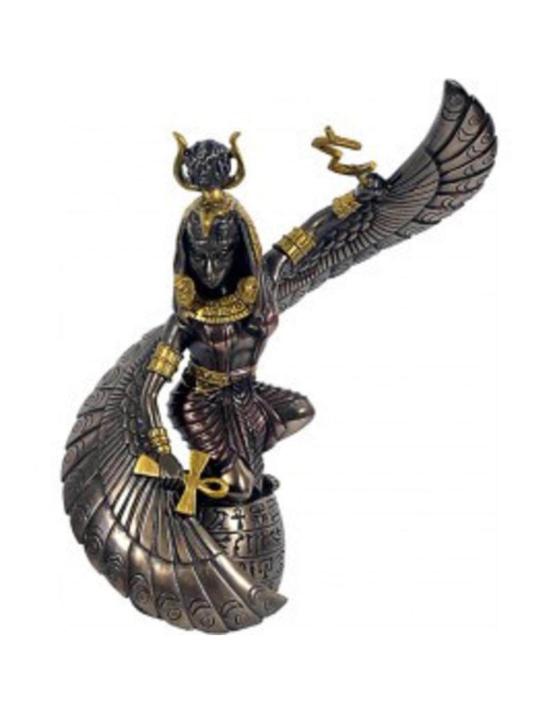 W.F. Peters Isis bronskl hg 24 cm br 17 cm