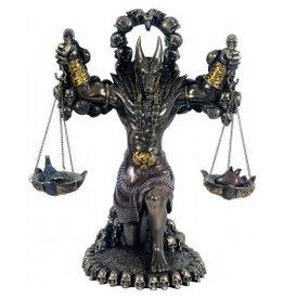 W.F. Peters Anubis bronskl. hg 22 cm br 20 cm