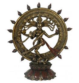 W.F. Peters Shiva bronskleur hg 39,5 cm br 34 cm