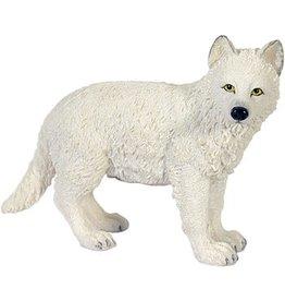 W.F. Peters Witte jonge Wolf lopend hg 9 cm lg 11 cm