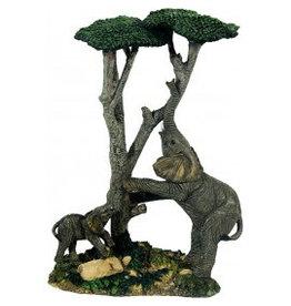 W.F. Peters Olifanten onder boom