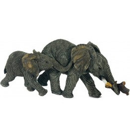 W.F. Peters Olifanten lopend  9 x 23 cm per 2 stuks