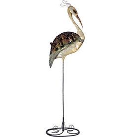 W.F. Peters Kraanvogel decofiguur metaal hg 80 cm br 28 cm