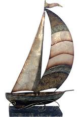 W.F. Peters Boot decofiguur metaal hg 43 cm br 27 cm