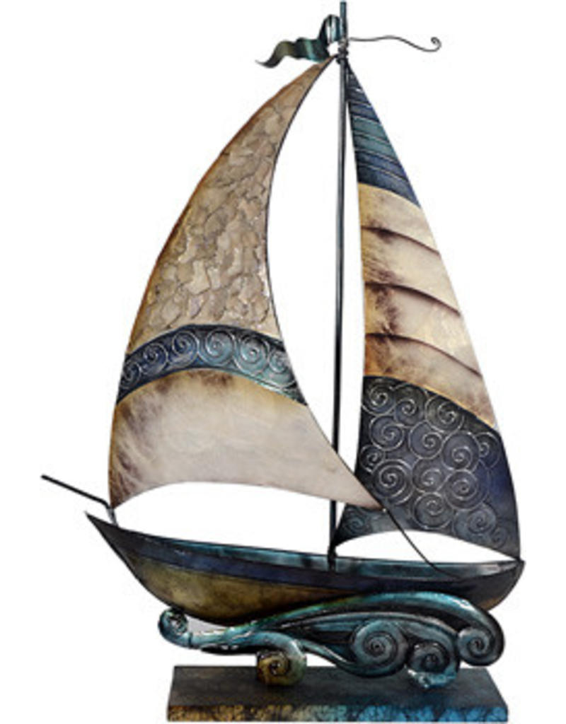 W.F. Peters Boot decofiguur metaal hg 55 cm br 39 cm