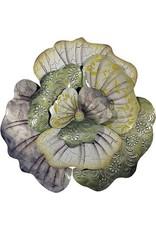 W.F. Peters Bloemen wand decofiguur metaal diamtr. 46 cm