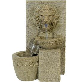 W.F. Peters Leeuwenkop fontein hg ca 35 cm br ca 24 cm
