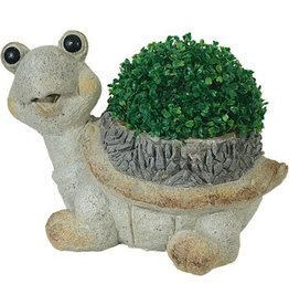 W.F. Peters Tuinbeeld Schildpad + plantenbak hg 20 cm br 40 cm