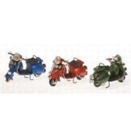 W.F. Peters Scooters blauw -rood-groen 11,5 x 7,5 x 5,5 cm per set van 3