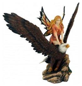 W.F. Peters Elf zit op adelaar hg 20- br 21 cm