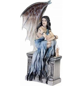 W.F. Peters Fairysite elfje Gargoyle by Jacquelin Collen Tarrolly hg 16,5 cm