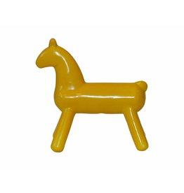 W.F. Peters paard abstract geel groot