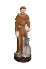 W.F. Peters H. Franciscus met duiven en wolf lichtbruin