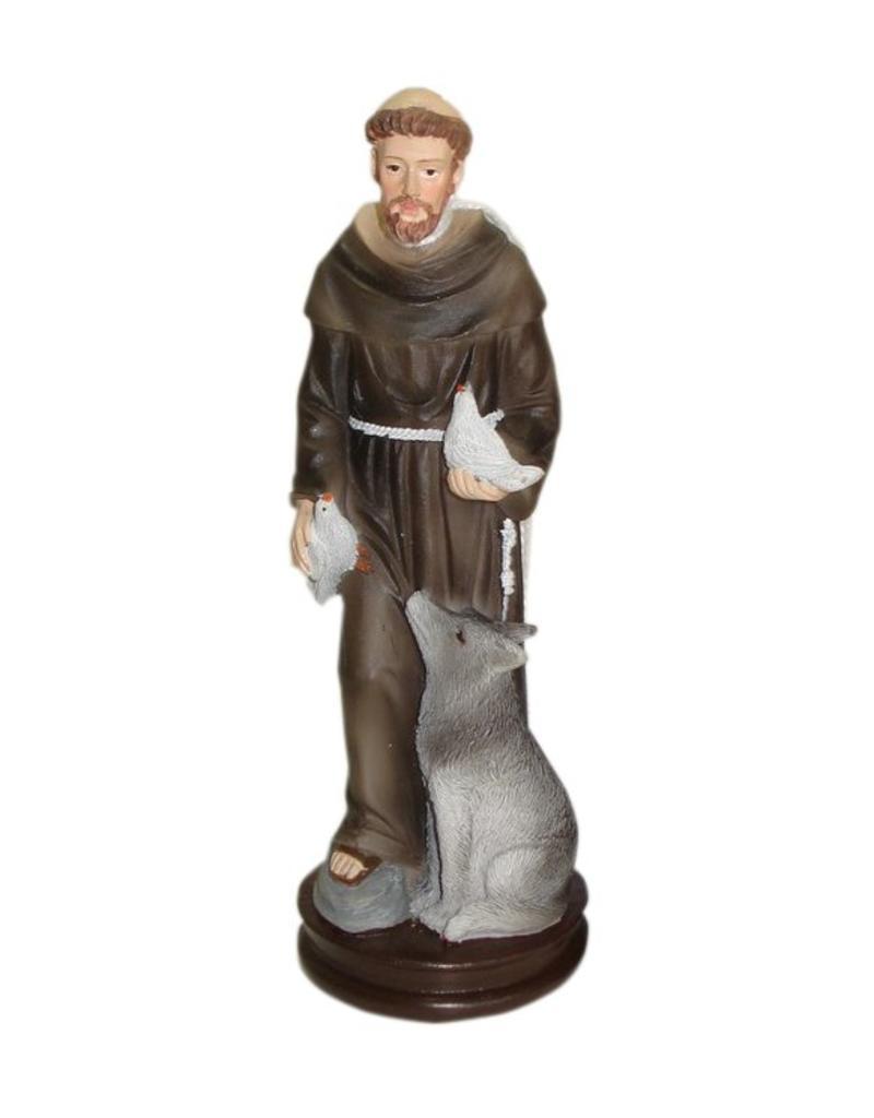 W.F. Peters H. Franciscus met duiven en wolf donkerbruin
