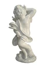 W.F. Peters Engel staand met veer