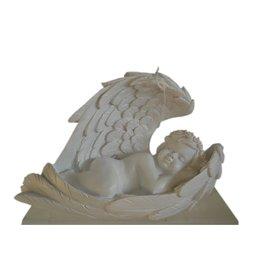 W.F. Peters Engel in vleugel met witte kroon en lichtje