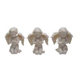 W.F. Peters Drie engeltjes knielend