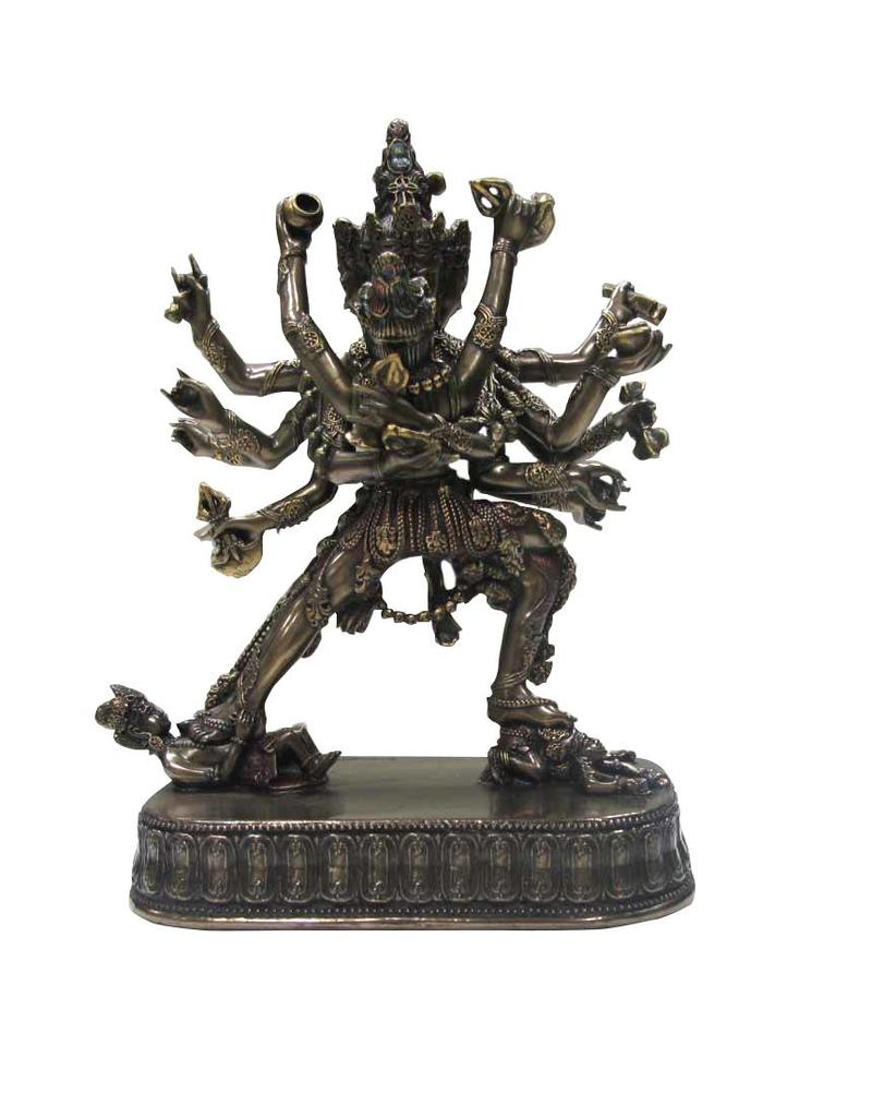 W.F. Peters 2 Buddha's omarmd met vele handen en benen