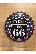 W.F. Peters Beer cap ''City route u.s. 66'' (sterren)