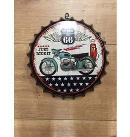 W.F. Peters Beer cap ''Route 66 just ride it''