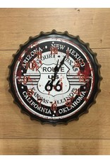 W.F. Peters Beer cap klok ''Route 66'' (plaatsnamen)