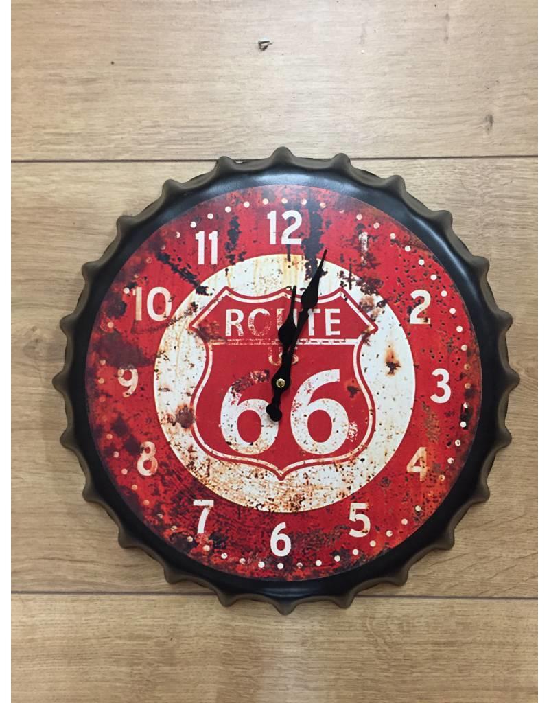 W.F. Peters Beer cap klok route 66 rood