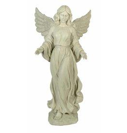 W.F. Peters Staande witte engel handen wijd hg ca 66 cm