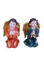 W.F. Peters 2 Engeltjes knielend gekleurd
