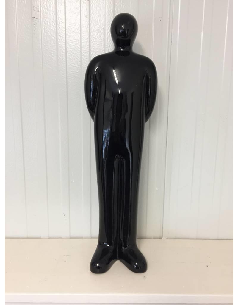 W.F. Peters Abstract zwart beeld zwart 35 cm (benen naast elkaar)