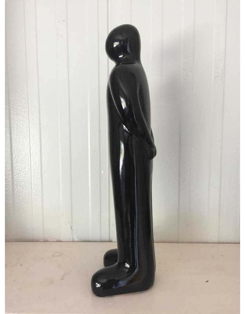 W.F. Peters Abstract zwart beeld zwart 75 cm (benen naast elkaar)