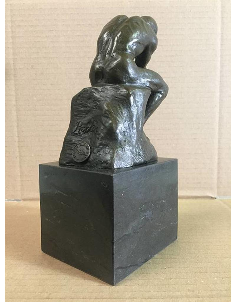 W.F. Peters Bronzen beeld ''Rodin de Denker''