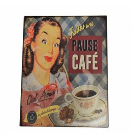 W.F. Peters Tin Sign ''Pauze Cafe''