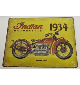 W.F. Peters Tin Sign ''Indian Motorcycle''