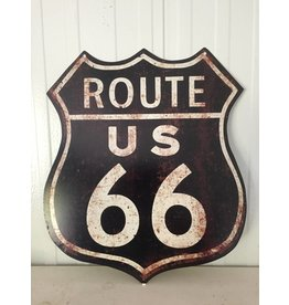 W.F. Peters Tin sign ''Route U.S. 66''