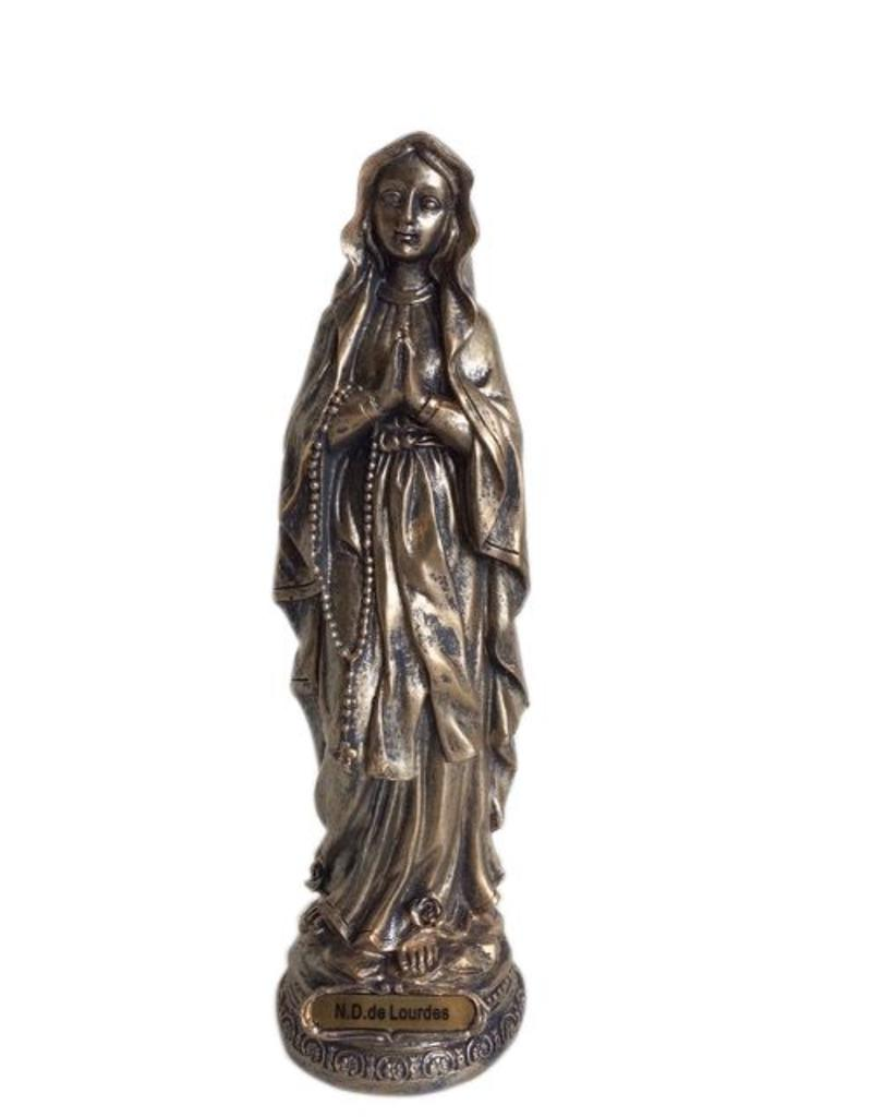 W.F. Peters Lourdes, hg 23 cm (brons kleur)
