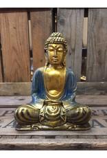 W.F. Peters Buddha lotus houding (goud-blauw)